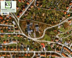 JEZT - Auszug aus dem Kartenportal der Stadt Jena - Burgweg Umbindung 2014-06-25