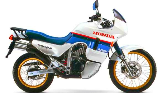 JEZT - Honda Transalp Mototrad mit gelben Felgen - Symbolbild