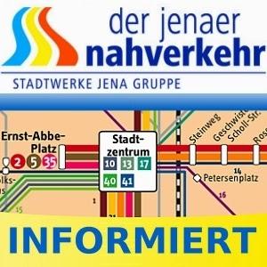 JEZT - Der Jenaer Nahverkehr informiert - JeNah Symbolbild
