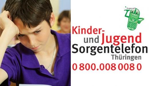 JEZT - Die Telefonnummer Kinder und Jugend Sorgenetelefon Thueringen