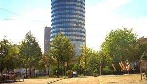 JEZT - Ideenwerkstatt Eichplatz - Eichplatz mit Blick auf den JenTower