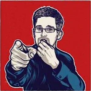 JEZT - Image of the Whistleblower Edward Snowden
