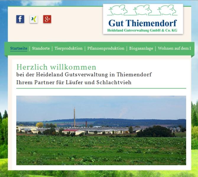 JEZT - Internetseite von Gut Thiemendorf - 07-2014