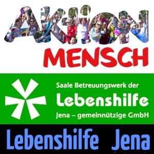 JEZT - Logo der Aktion Mensch + Saake Betreuungswerk Jena