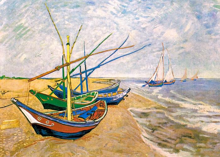 JEZT - Rainer Sauer - 17 Tage Europa - Fischerboot am Strand von Saint-Marie-de-la-Mer - Vincent van Gogh