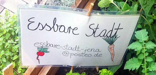 JEZT - Schild der Initiative Essbare Stadt Jena