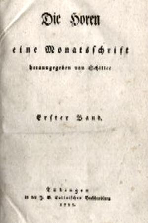 JEZT - Schiller - Die Horen - Erster Band