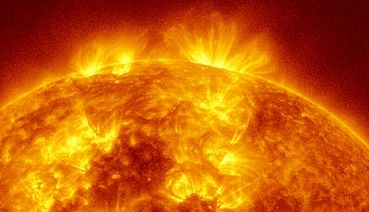 JEZT - Solar Eruption - 2014-07-08 - NASA - SDO Sattelite - Bildbearbeitung InterJena.com