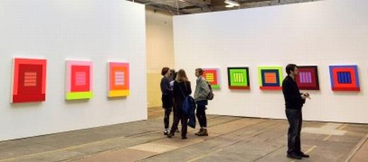 JEZT - Vernisage der Jenaer Kunstausstellung - Peter Halley Prisms - 2014-07-03