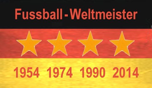 JEZT - Vier Sterne Deutschland-Flagge