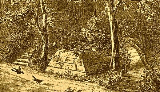 JEZT - Zeichnung des Grabes der Dunkelgräfin in Hildburghausen