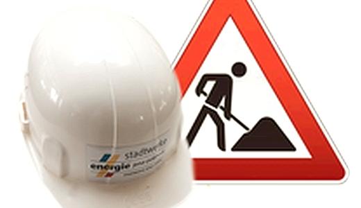 JEZT - Baustellen der Satdtwerke Jena . Symbolbild