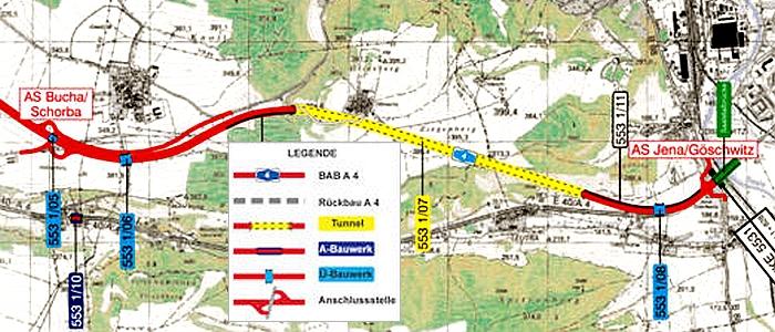 JEZT - Der Jagdbergtunnel - Planzeichnung © TLBV