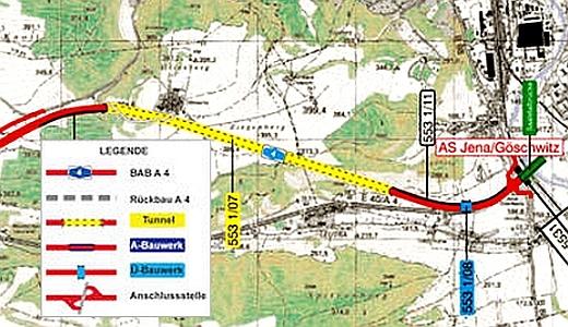 JEZT - Der Tunel Jagdberg - Planzeichnung © TLBV
