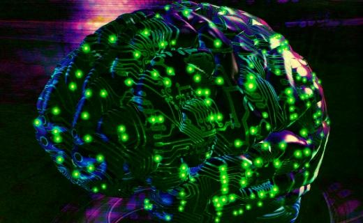 JEZT - Die Erforschung des Gehirns - The Exploration of the Brain - Grafik von John Burgess © 1988