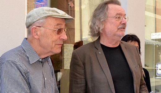 JEZT - Dr Dietrich von Knorre und Prof Dr Jochen Suess wuerdigten Alfred Brehm.- Foto © Stadt Jena Barbara Glasser