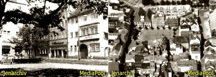 JEZT - Eichplatz 1925 - Marktplatz Jena 1992 - Fotos © MediaPool Jena
