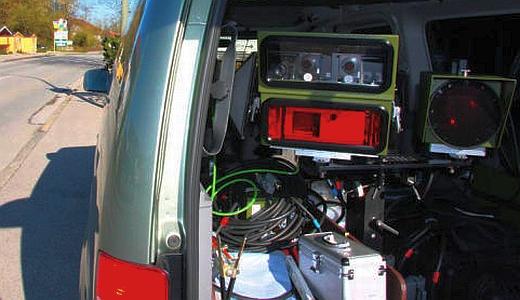 JEZT - Geschwindigkeitskontrolle mit Laserblitzer - Symbolbild