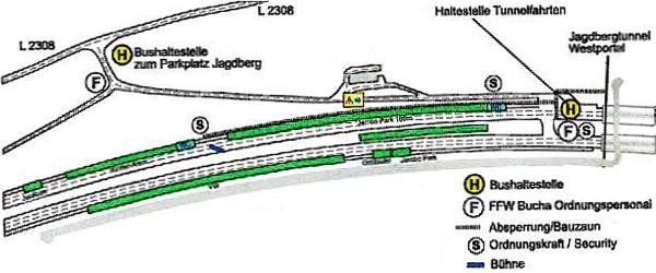 JEZT - Lageplan zum Jagdbergtunnelfest 2014