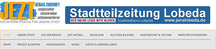 JEZT - Stadtteilzeitung Lobeda auf JEZT abrufbar