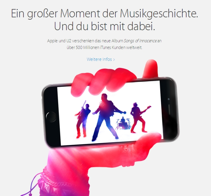 JEZT - Apple Homepage 2014-09-09 - Ein grosser Moment der Musikgeschichte