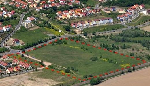 JEZT - Areal des Wohngebietes Oelste in Jena Zwätzen - Foto © Stadt Jena