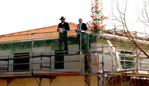JEZT - Baustelle des Studentenwohnhauses im Friesweg in Jena - Richtfest - Foto © Studentenwerk Thueringen