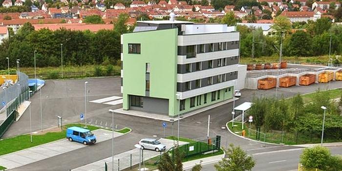 JEZT - Das neue Servicegebaeude des KSJ aus der Luft - Foto © Kommunalservice Jena