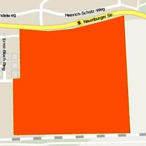 JEZT - Lage des Wohngebietes Oelste in Jena Zwätzen - Abbildung © Stadt Jena