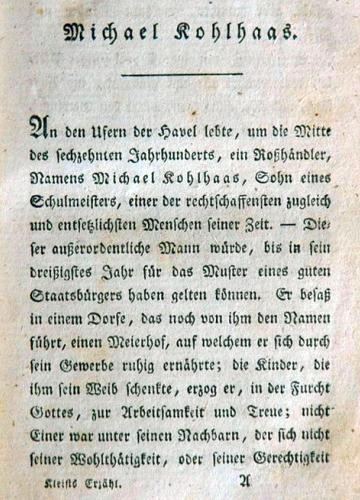 JEZT - Michael Kolhlhaas aus Kleists Erzaehlungen