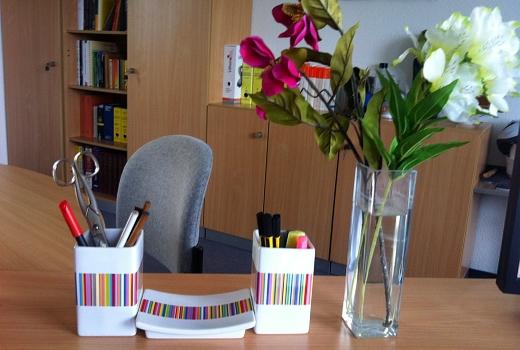 JEZT - Schreibtisch von Rainer Sauer im September 2014 - Foto © Rainer Sauer Jena