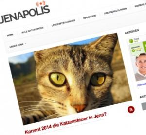 JEZT - Artikelabbild - Netzbandt - Katzensteuer © MediaPool Jena