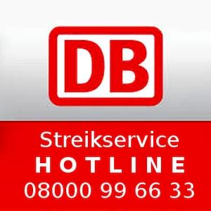 JEZT - DB Streikservice Hotline - Grafik © MediaPool Jena