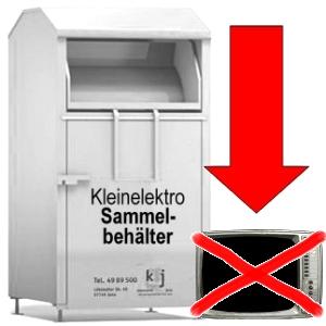 JEZT - KSJ mag keine Fernseher neben Kleinelektro Sammelbehaeltern - Abbildung © MediaPool Jena