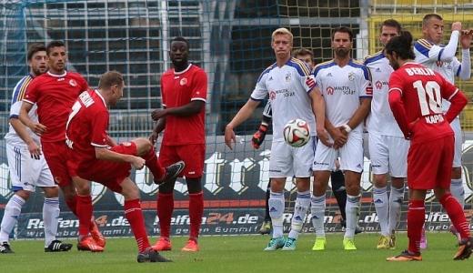 JEZT - Spielszene des FC Carl Zeiss gegen den Berliner AK - Foto © FCC Jena