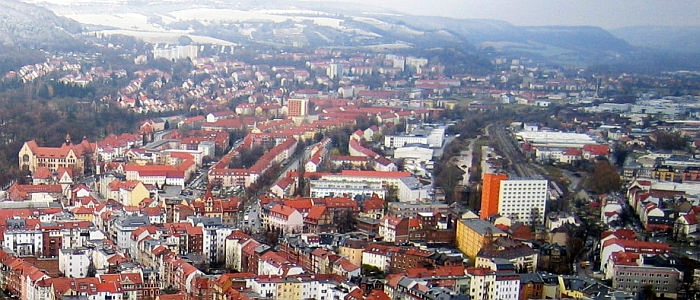 JEZT - Blick auf ein winterliches Jena-Nord - Foto © MediaPool Jena