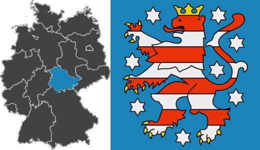 JEZT - Das Freistaat Thueringen und das Thueringer Wappen - Abbildung © MediaPool Jena