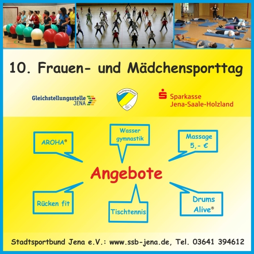 JEZT - Zehnter Maedchen und Frauen Sporttag 2014 - Abbildung © MediaPool Jena