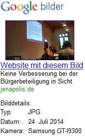 JEZT - google screenshot zu Jenaer Keine Verbesserung bei der Buergerbeteiligung in Sicht