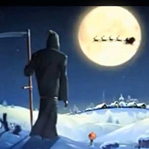 JEZT - Ausschnitt aus dem YouTube-Video - Was passieren kann wenn der Tod dem Weihnachtsmann ein Geschenk steihlt