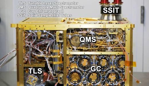 JEZT - Curiosity Messinstrument SAM - exposed annotated mahaffy - Foto © NASA