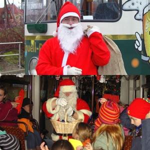JEZT - Der JeNah Nikolaus in der Lampionbahn - Foto © Jenaer Nahverkehr