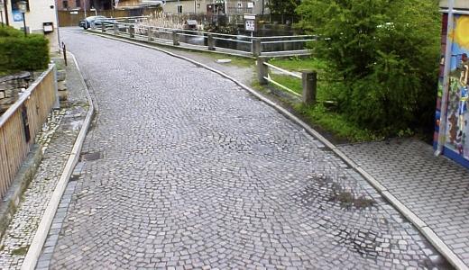 JEZT - Foto 1 zur Befahrung der Strasse Pennickental im Jahre 2008 - Abbildung © Stadt Jena KSJ