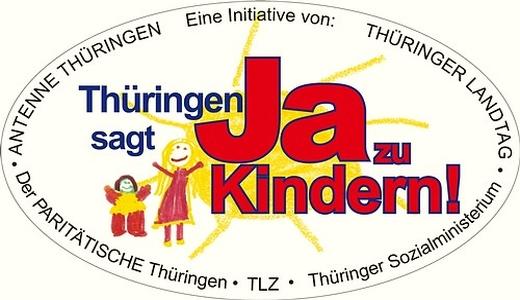JEZT - Logo der Aktion - Thueringen sagt JA zu Kindern . Abbildung © MediaPool Jena