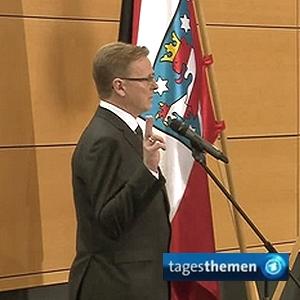 JEZT - Ministerpraesident Bodo Ramelow bei seiner Vereidigung - Foto © ARD