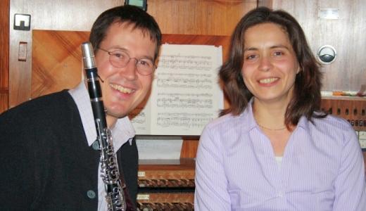 JEZT - Christina Lauterbach spielt an der Orgel und an der Klarinette ist Christof Reiff - Foto © Philharmonie Jena