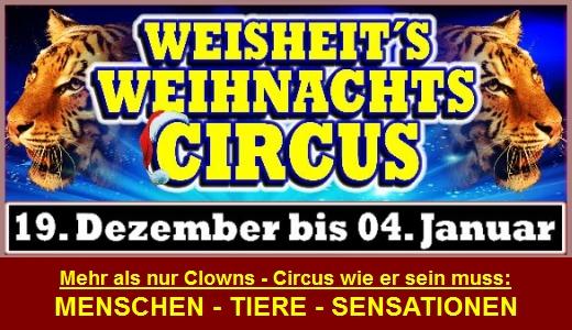 JEZT - Weihnachts.Circus Weisheit 2014 2015 in Jena - Abbildung © MediaPool Jena