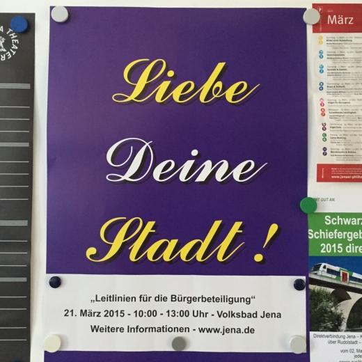 JEZT - Liebe Deine Stadt - Auftaktveranstaltung - Plakat - Symbolbild © MediaPool Jena