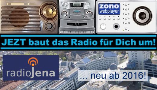 JEZT baut das Radio für Dich um - RADIO JENA ...neu ab 2016 - Symbolbild © MediaPool Jena