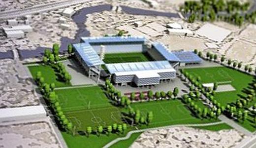Das Ernst-Abbe-Sportfeld nach dem Umbau zum Stadion - Image 3 der Visualisierung von Knick Design GbR © im Auftrag des FCC